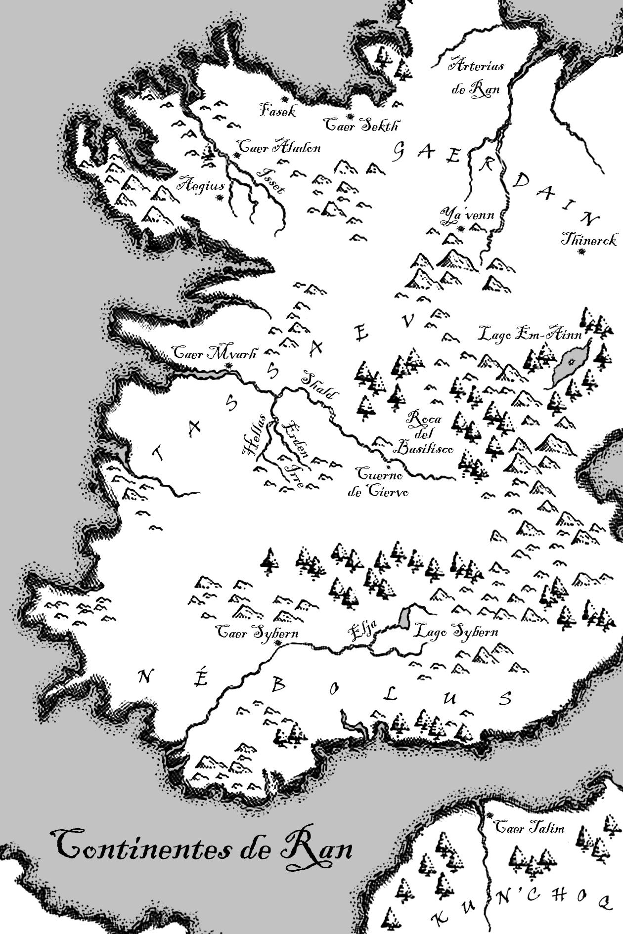 Mapa de Ran, Heredero del Invierno