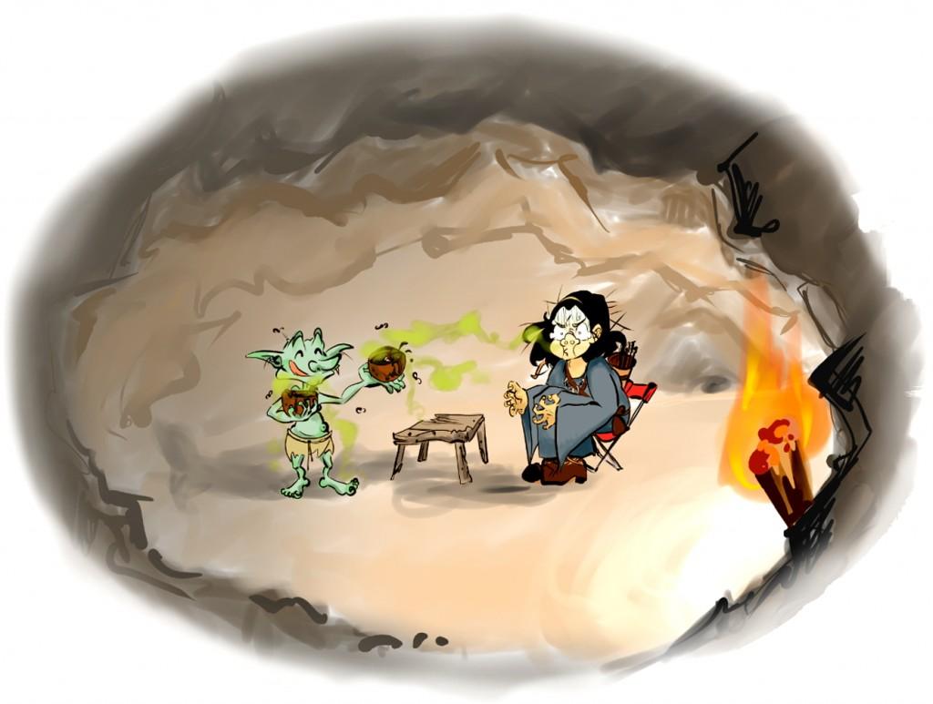 Trova del mago con ballesta, parte III (Ilus. Ana Blanco).